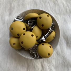 Speenclip siliconen KLEIN - mosterd