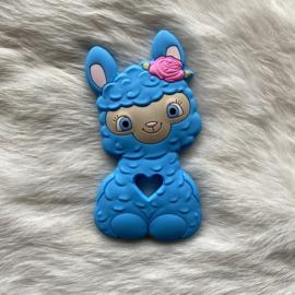 Happy llama bijtfiguur - hemels blauw