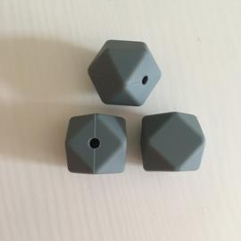 Hexagon - donker grijs