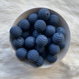 19mm geribbeld - nacht blauw
