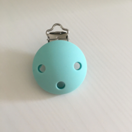 Pacifier clip silicone - light turquoise