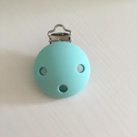 Speenclip siliconen - lichter turquoise