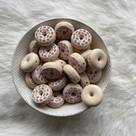 Donut met spikkels kraal