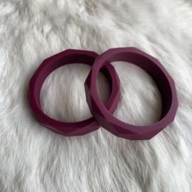 Armband siliconen - wijnrood