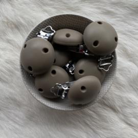 Speenclip siliconen - dark oat