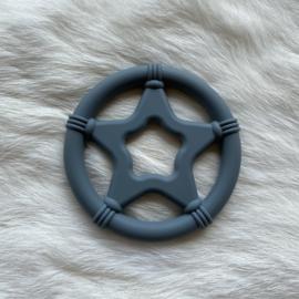 Star teether - dark grey