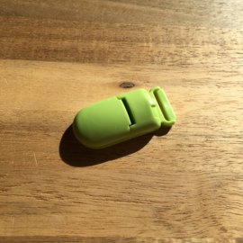 Pacifier clip plastic 15mm - green
