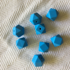Kleine hexagon - blauw