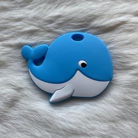 Blije walvis figuur - hemelsblauw