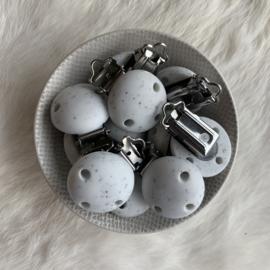 Speenclip siliconen KLEIN - wit dalmatier