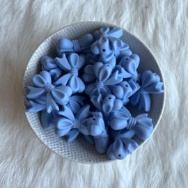 Strikje - licht poeder blauw