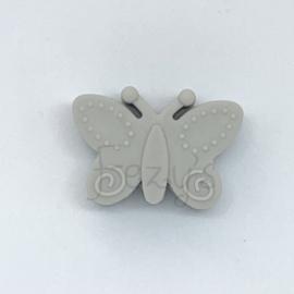 Vlinder kraal - licht grijs