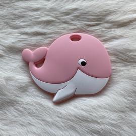 Blije walvis figuur - licht roze