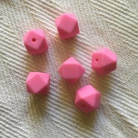 Kleine hexagon - roze