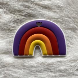 Regenboogje bijtfiguur - paars/rood