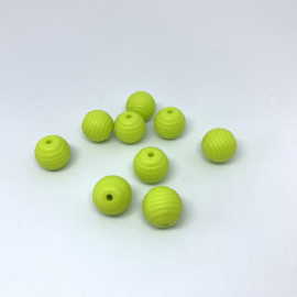 15mm striped - light green
