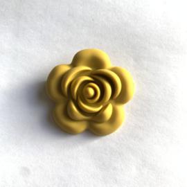Grote bloem - mosterd geel