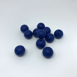 15mm with 2 holes - sapphire blue
