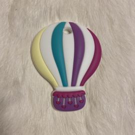 Air balloon teether - fuchsia/cream yellow