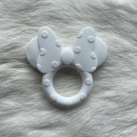 Mini mouse bijtring - wit