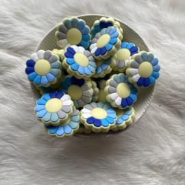 Flower power kraal - blauw tinten