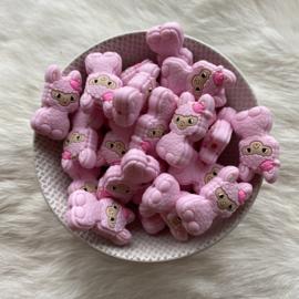 Happy llama bead - soft pink
