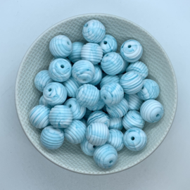 15mm striped - marble teal