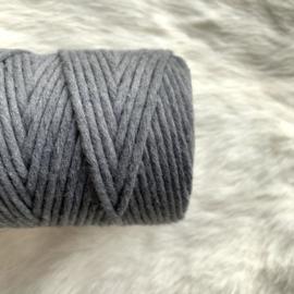 Macramé single twist - steel