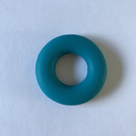 Donut ring - donker cyaan