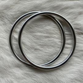 Slingringen maat XL - zilver glimmend