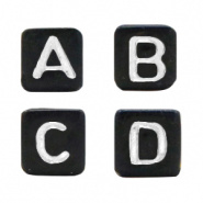 Acryl letterkralen