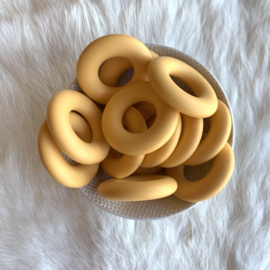 Donut ring - goud geel