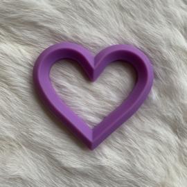 Hart met 2 gaten - paars