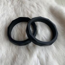 Armband siliconen - zwart