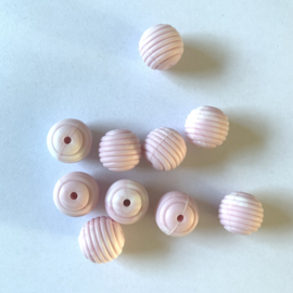 15mm striped - marble soft pink