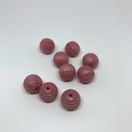 15mm striped - pearl rose gold