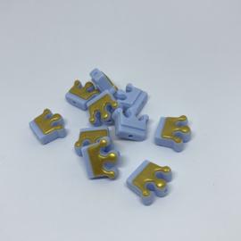 Kroontje S - pastel blauw