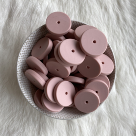 Coin bead 25mm - old pink
