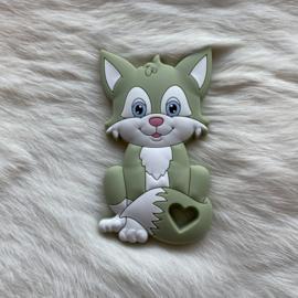 Fox sitting teether - lint 2