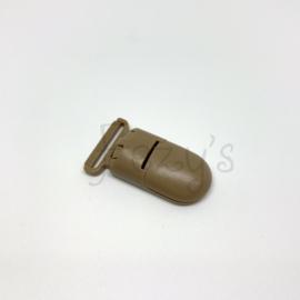 Speenclip kunststof 20mm - licht bruin