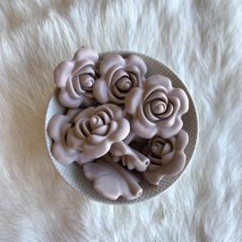 Grote bloem - rosy brown