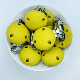 Speenclip siliconen - mosterd geel
