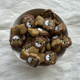 Lion bead - brown