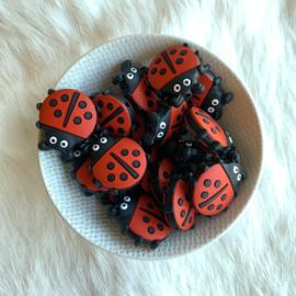 Lieveheersbeestje kraal - rood
