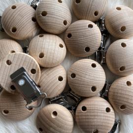 Speenclip hout 35mm met DIN EN 71 (part 3 en 9) and 12586  certificaat