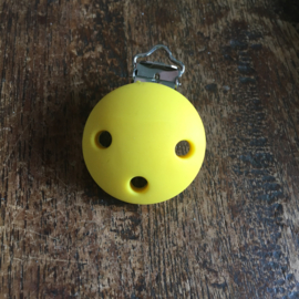 Pacifier clip silicone - yellow