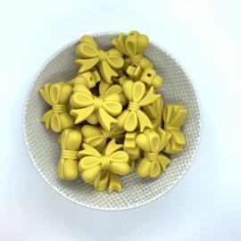 Strikje - mosterd geel