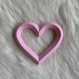 Hart met 2 gaten - zacht roze