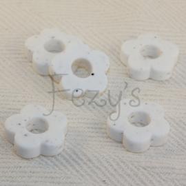Rond bloemetje - wit dalmatier