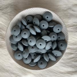 Discus 15mm - donker grijs